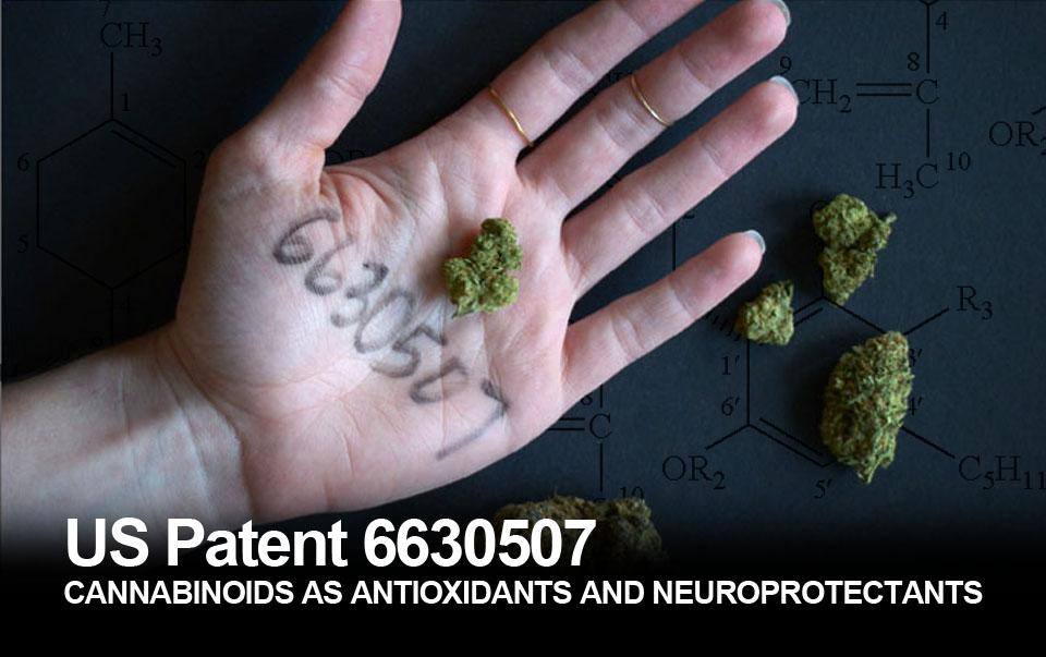 US Patent 6,630,507: CANNABINOIDS AS ANTIOXIDANTS AND NEUROPROTECTANTS