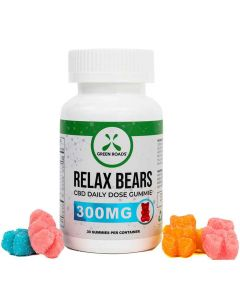 300mg Relax CBD Gummie Bears by Green Roads